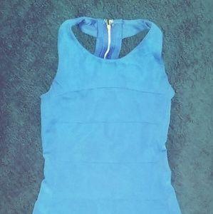 Royal Blue Bandage Bodycon Dress
